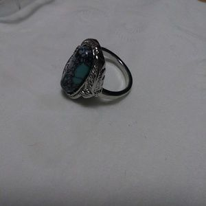 Jewelry - Pretty SS ring (marked 925) with stone